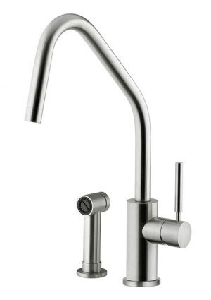 Stainless steel tap made in Italy by Breschi. The best design from the best steel.