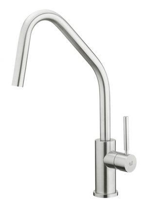 Steinless steel tap for the kitchen made in Italy by Breschi. Elegant and simple. Leudo is the result of an excellent functional project.