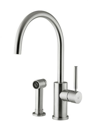 Stainless steel tap made in Italy by Breschi. Its simplicity has made this the most popular item in northern Europe,