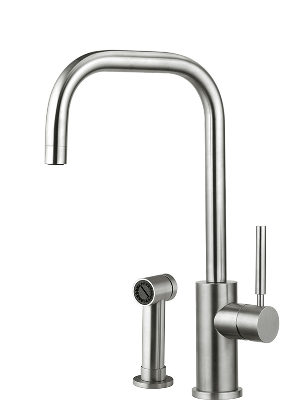 Stainless steel tap. It's a contemporary classic, elegant and minimal, that works in every style of home.